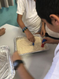 Year 5 Science experiment learning about properties of materials and how to separate them. We are using evaporation, filtration, sieving and magnetic attraction to separate mixtures.